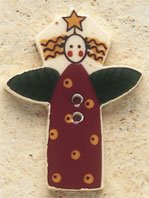 43070 - Polka Dot Garden Angel - 1in x 1 1/4in